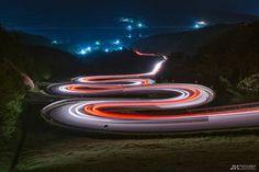 The Spiral Road  #longexposure #lighttrails #nightphotography
