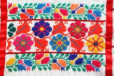 Meh-heeeee-co – Style Bubble Cross Stitch Borders, Cross Stitch Art, Cross Stitching, Cross Stitch Patterns, Embroidery Flowers Pattern, Hand Embroidery Stitches, Cross Stitch Embroidery, Flower Chart, Mexican Embroidery
