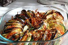 Verduras al horno a la provenzal, receta a nuestra manera con verduritas, ajo, aceite, vino blanco y mostada de dijon, mezcla perfecta rica y sana por igual