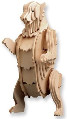 3-D Wooden Puzzle - Small Grizzly Bear -