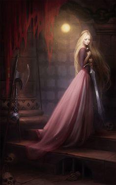 Es una versión adulta de la princesa Eilonwy (Tarón y el Caldero Mágico) de Melanie Delon, pero bien podría ser ÉOWYN.