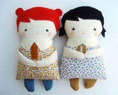Love these dolls. They don't look too hard to make... #dolls
