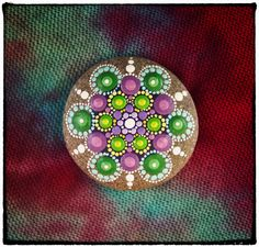 Jewel Drop Mandala Painted Stone Grape Vine by ElspethMcLean, $30.00