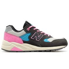 special offer 2015 New Balance 580 Black Pink Grey Blue Womens Sneakers Cheap New Balance, New Balance Women, New Balance Sneakers, New Balance Shoes, Sneakers For Sale, Pink Grey, News, Womens Fashion, Stuff To Buy
