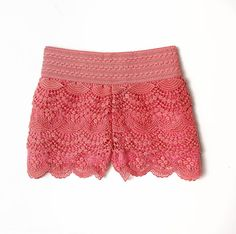 Is it Summer yet? Can't wait to rock these American Rag crochet shorts! Cute Outfits For School, Cool Outfits, Summer Outfits, Summer Clothes, Crochet Shorts, Lace Shorts, Crochet Clothes, Athletic Outfits, Athletic Clothes