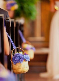 I try to avoid wedding stuff, but I really LOVE these hanging Nantucket baskets.