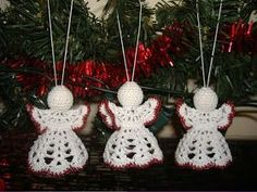 Crochet Christmas Decorations, Christmas Ornaments, Crochet Angels, Diy And Crafts, December, Xmas, Sewing, Holiday Decor, Free