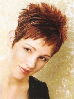 2 Amazing Elements in Short Spiky Hairstyles for Women: orange short spiky hairstyles for women