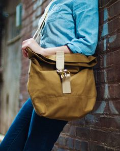 Talant Cross Body Bag USA Made Canvas bag by TalantTrade on Etsy, $139.99 // I want this bag