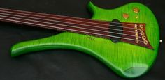 """Yeah , I'd say this is green. Not for the shy and insecure fretless player , you cannot hide on stage with this bass. This may make you a better player. What is the old saying ? """" If it does not kill you it will make you stronger """". The Diva is a simple…"""