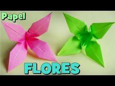 Cómo hacer una Flor de Papel - Origami Lirio - YouTube