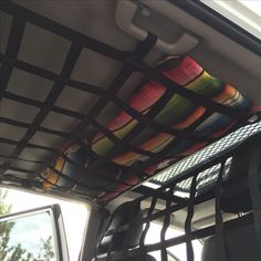 5th gen 4 runner ceiling and barrier net behind front seats.