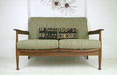 Guy Rogers Vintage Re-upholstered Sofa
