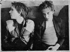 Tom Verlaine and Richard Hell, from Television.