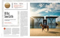 Texas Monthly (illustration by Kendrick Kidd) Editorial Layout, Editorial Design, Tool Design, Page Design, Magazine Layout Design, Magazine Layouts, Texas Monthly, Yearbook Layouts, Publication Design