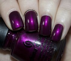 Best Ideas For Pedicure Nail Art China Glaze Purple Nail Designs, Colorful Nail Designs, Fancy Nails, Trendy Nails, Shiny Nails, Fabulous Nails, Gorgeous Nails, Hot Nails, Hair And Nails