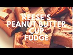 Reese's Peanut Butter Cups Fudge Recipe ( 3 ingredients ) - Crunchy Creamy Sweet