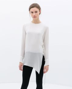 STUDIO SHIRT WITH SIDE BUCKLES from Zara