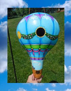 Hot Air Balloon Gourd Birdhouse by BostfulBits on Etsy, $125.00