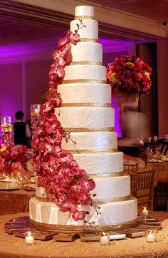 Indian Wedding Cake. Must be a BIG wedding = BIG Cake!!
