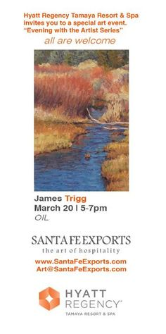 "Please join us on March 20th for another ""Evening with the Artist Series"" event.   -   tamaya.hyatt.com"