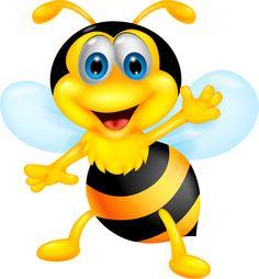 Cute bee cartoon vector illustration 11