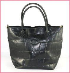 Mulberry Vintage Black Congo Leather Bag
