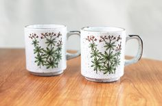 Set of Two Floral Mugs by CircusBearVintage on Etsy, $13.00