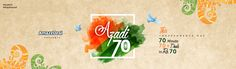 Enjoy all deals in Rs.70 only. Celebrate this Independence day with more than 70 deals and for 70 minutes. Use promo code AZADI70 to avail this exclusive offer. Your freedom sale starts at 12 noon on this 15th August, celebrations begin now.  AmazeDeal.in #AmazeDeal #AmazingSavings #StayAmazed #IndependenceDay