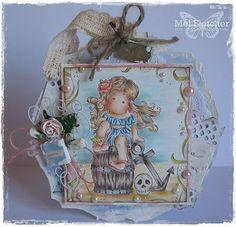 OOAK Magnolia Boxed Tilda  Card.