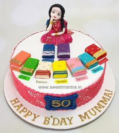Cake Decorating Designs, Cake Decorating Techniques, Cake Designs, Decorating Tips, Moms 50th Birthday, Baby Birthday Cakes, Birthday Cakes For Ladies, Birthday Kek, Birthday Cookies