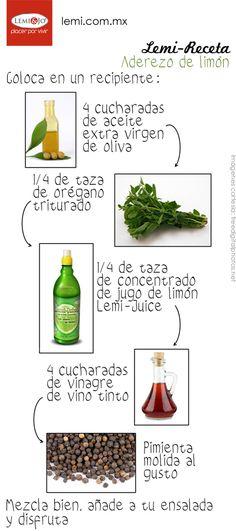 #Receta Aderezo de limón