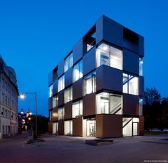 The NIK Building by Atelier Thomas Pucher & Alfred Bramberger. I like that this design is a complete rethink of the typical office building.