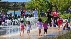 Enjoy the state's largest outdoor water play facility at Blaxland Riverside Park.