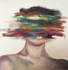 Oil and acrylic painting of a mans face blurred out with colors Cute Canvas Paintings, Small Canvas Art, Mini Canvas Art, Acrylic Painting Canvas, Paintings Of Faces, Acrylic Painting Inspiration, Painting Abstract, Figure Painting, Aesthetic Painting