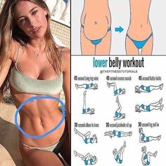 Fat-Burning Workout To Get Rid Of Your Lower Belly Pooch Sure, six-pack abs are nice. But abdominal strength and endurance means much more than sporting Adonis-like abs. Developing your midsection has positive benefits. Summer Body Workouts, Fitness Workouts, Easy Workouts, Yoga Fitness, At Home Workouts, Fitness Motivation, Workout Abs, Lower Ab Workouts, Physical Fitness