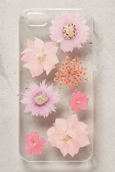 Iphone 5 case with pressed flowers #AnthroFave