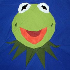 Kermit the Frog ... by Quilt it out | Sewing Pattern - Looking for your next project? You're going to love Kermit the Frog paper piecing pattern by designer Quilt it out. - via @Craftsy