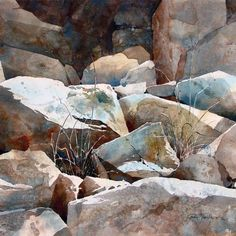 Gloria Miller Allen - watercolor rocks