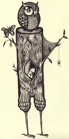 that owl would make a marvelous tat Illustrations, Illustration Art, Black And White Owl, Owl Always Love You, Owl City, Wise Owl, Zen Doodle, Pet Birds, Artsy Fartsy