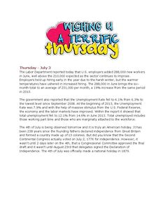 7-3-14 Thursday Market News www.equitysourcemortgage.com  No news for tomorrow as market is closed for the 4th of July.  Happy 4th everyone!