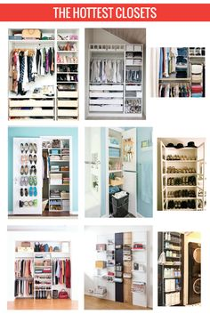 All the organization tips + tricks to transform your closet into your own wardrobe wonderland Closet Storage, Closet Organization, Organizar Closet, Dream Closets, Closet Designs, Closet Bedroom, Home And Deco, My New Room, Getting Organized