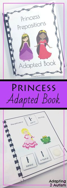 Practice prepositions with your princess fans with this adapted book.  Created for students with autism and special education classrooms, this book also includes differentiated worksheets.  Use this activity as a work task or in speech therapy for spatial concepts practice.