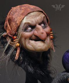 Baba Yaga, Polymer Clay Dolls, Witch Art, Arte Horror, Sculpture Clay, Magical Creatures, Halloween Art, Art Dolls, Character Art