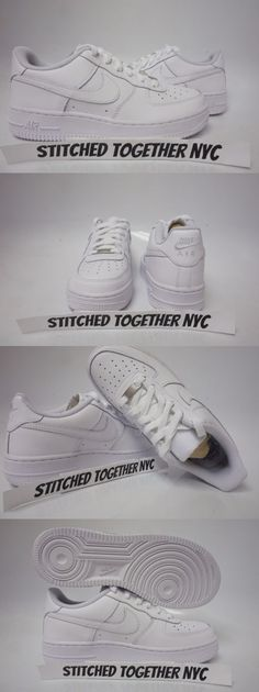 7809e298cb2 Boys Shoes 57929  (314192-117) Grade-School Youth Nike Air Force 1 Low White  White White -  BUY IT NOW ONLY   68 on eBay!