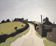 "Sir Kyffin Williams Farms above Waunfawr Oil on Canvas Cat: Nicholas Sinclair ""In Conversation With Kyffin Williams"" 1998 X inches"