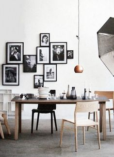 Perfect black and white gallery wall.