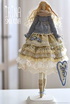tilde doll BRIDA – shop online on Livemaster with shippingThis Content For You Personally If You Like fabric craft tipsYou Will Enjoy fabric flowers With One Of These Tips Doll Clothes Patterns, Doll Patterns, Clothing Patterns, Sewing Stuffed Animals, Stuffed Toys Patterns, Doll Crafts, Diy Doll, Tilda Toy, Beautiful Dolls