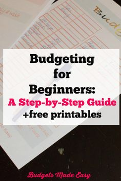 budgeting for beginners a step by step guide