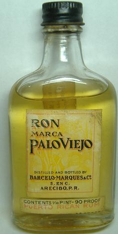 Palo Viejo, old bottle